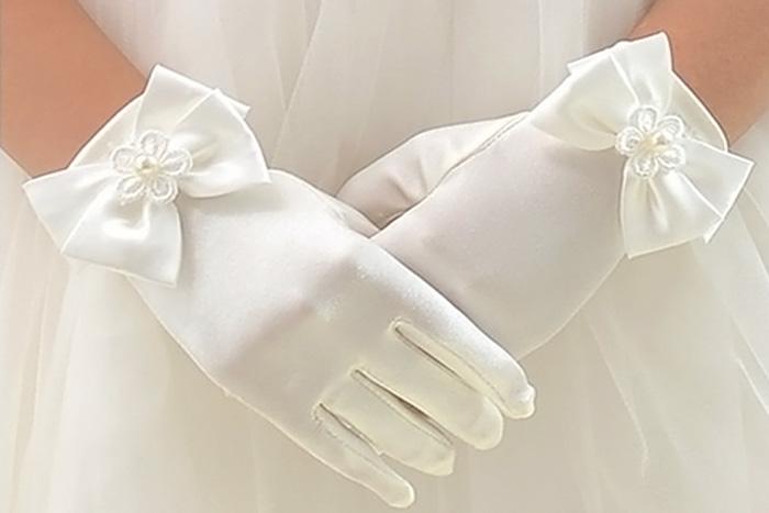Перчатки к платью для девочек