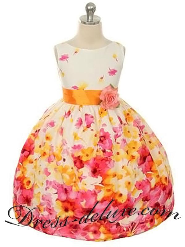 Платья для девочек с цветами