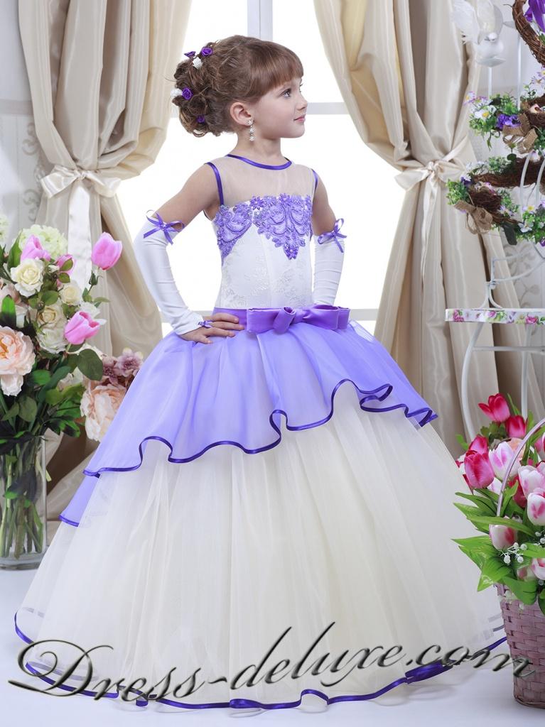 Пышное платье на выпускной в детском саду