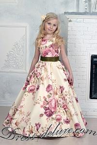 a88bd178a14 Платье Цветалина. Цвет персиковый принт.